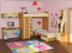 кровать и раскладное кресло-кровать) двухкомнатный номер кухня, с-у